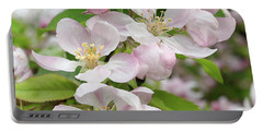 Delicate Soft Pink Apple Blossom Portable Battery Charger by Gill Billington
