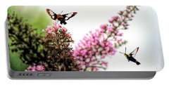 Portable Battery Charger featuring the photograph Delight And Joy - Hummingbird Moths In Flight by Kerri Farley