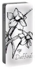 Delightful Daffodils Portable Battery Charger