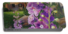 Delightful Delphiniums Portable Battery Charger