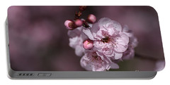 Delightful Pink Prunus Flowers Portable Battery Charger