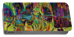Portable Battery Charger featuring the digital art Deliriously Happy by Kiki Art