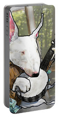 Deliverance Bull Terrier Caricature Art Print Portable Battery Charger