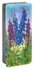 Delphinium Blue Portable Battery Charger