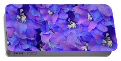 Delphinium Blue Portable Battery Charger by Shirley Heyn