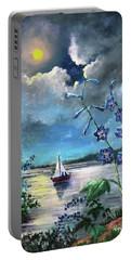 Delphinium Dreams Portable Battery Charger