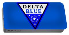 Portable Battery Charger featuring the digital art Delta Bluebirds by Dave Luebbert