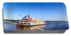 Delta Queen Steamboat On Mississippi Portable Battery Charger