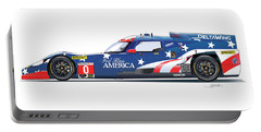 Deltawing Le Mans Racer Illustration Portable Battery Charger