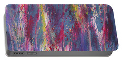 Portable Battery Charger featuring the painting Delve Deep 2 by Mini Arora