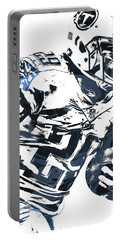Portable Battery Charger featuring the mixed media Demarco Murray Tennessee Titans Pixel Art 2 by Joe Hamilton