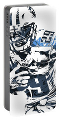 Portable Battery Charger featuring the mixed media Demarco Murray Tennessee Titans Pixel Art by Joe Hamilton