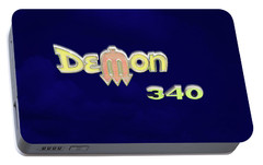 Portable Battery Charger featuring the photograph Demon 340 Emblem by Mike McGlothlen