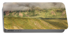 Denali National Park Mountain Under Clouds Portable Battery Charger