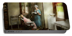 Portable Battery Charger featuring the photograph Dentist - Patients Is A Virtue 1920 by Mike Savad