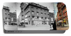 Portable Battery Charger featuring the photograph Dentist - Peerless Painless Dental Parlors 1910 - Side By Side by Mike Savad
