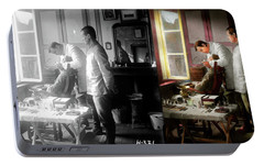 Portable Battery Charger featuring the photograph Dentist - The Horrors Of War 1917 - Side By Side by Mike Savad