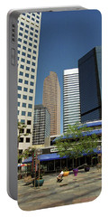 Portable Battery Charger featuring the photograph Denver Architecture by Frank Romeo