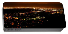 Denver Area At Night From Lookout Mountain Portable Battery Charger