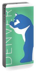 Denver Blue Bear/aqua Portable Battery Charger