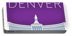 Denver City And County Bldg/purple Portable Battery Charger