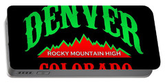 Denver Colorado Rocky Mountain Design Portable Battery Charger