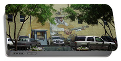 Portable Battery Charger featuring the photograph Denver Cowboy Parking by Frank Romeo