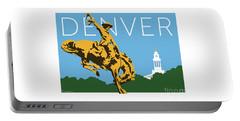 Denver Cowboy/sky Blue Portable Battery Charger