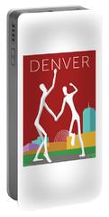 Denver Dancers/maroon Portable Battery Charger