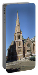 Portable Battery Charger featuring the photograph Denver Downtown Church by Frank Romeo