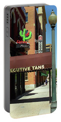 Portable Battery Charger featuring the photograph Denver Downtown Storefront by Frank Romeo