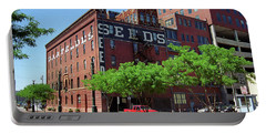 Portable Battery Charger featuring the photograph Denver Downtown Warehouse by Frank Romeo
