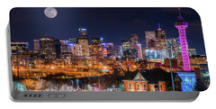 Portable Battery Charger featuring the photograph Denver Moon by Darren White