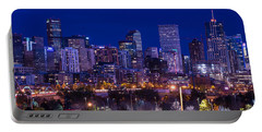Denver Skyline At Night - Colorado Portable Battery Charger