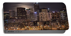 Denver Skyline At Night Portable Battery Charger
