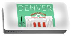 Denver Union Station/aqua Portable Battery Charger