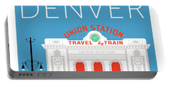 Denver Union Station/blue Portable Battery Charger