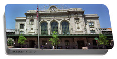 Portable Battery Charger featuring the photograph Denver - Union Station Film by Frank Romeo
