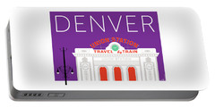Denver Union Station/purple Portable Battery Charger