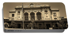 Portable Battery Charger featuring the photograph Denver - Union Station Sepia 5 by Frank Romeo