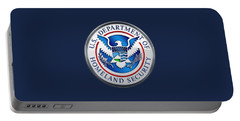 Department Of Homeland Security - D H S Emblem On Blue Velvet Portable Battery Charger