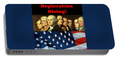 Portable Battery Charger featuring the digital art Deplorables Rising by Rand Swift