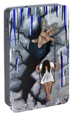 Portable Battery Charger featuring the painting Depression by Teresa Wing