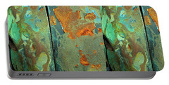 Portable Battery Charger featuring the mixed media Dereliction Of Paint 2 by Lynda Lehmann