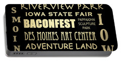 Des Moines Famous Landmarks Portable Battery Charger