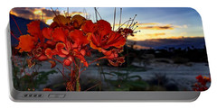 Portable Battery Charger featuring the photograph Desert Bird Of Paradise by Chris Tarpening