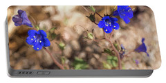 Portable Battery Charger featuring the photograph Desert Blue Bells At Joshua Tree National Park by Penny Lisowski