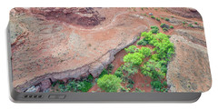 desert canyon in Utah aerial view Portable Battery Charger