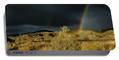 Desert Double Rainbow Portable Battery Charger