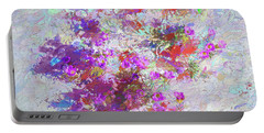 Portable Battery Charger featuring the painting Desert Flowers Abstract 3 by Penny Lisowski